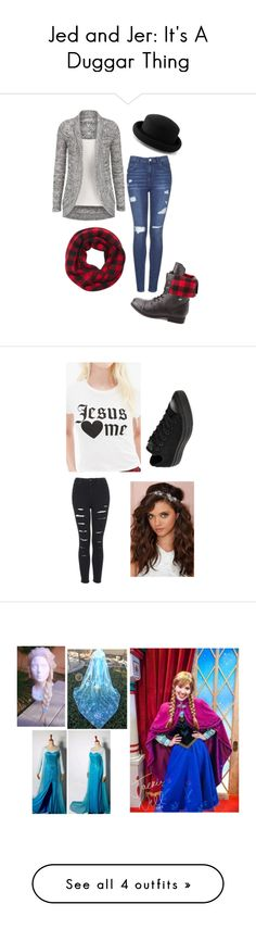 """""""Jed and Jer: It's A Duggar Thing"""" by zaria5sod ❤ liked on Polyvore featuring Topshop, Express, Warehouse, Charlotte Russe, Forever 21, Berry, Converse, Disney, Abercrombie & Fitch and T By Alexander Wang"""