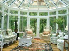 Awesome All Glass Sunroom