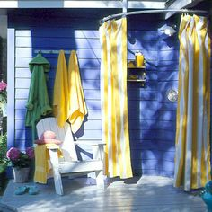 Outdoor Shower - we don't have a bathroom with an exterior door and the kids need to get cleaned up before they come inside