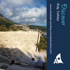 The Hellenistic amphitheatre in Kaş was built to seat over 4000. Nowadays, visitors sit in the ancient theatre to watch the sunset over the Mediterranean Sea.