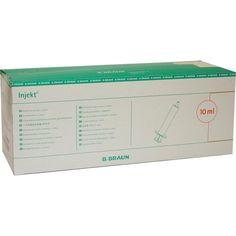 INJEKT Solo Spritze 10 ml LL zentrisch PVC-frei:   Packungsinhalt: 100X10 ml Spritzen PZN: 00611005 Hersteller: B. Braun Melsungen AG…