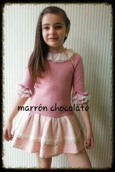 marron chocolate Little Girl Fashion, Fashion Kids, Kids Clothing, Little Girls, Kids Outfits, Mary, Chocolate, Skirts, Clothes