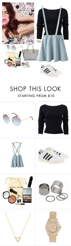 """""""~_~"""" by aumnea ❤ liked on Polyvore featuring Full Tilt, Donna Karan, adidas Originals, Bobbi Brown Cosmetics, Pieces, Wanderlust + Co, Rolex and Angela Roi"""