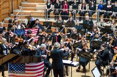 The University Chorus and Orchestra in an all-American programme, performing in Colyer-Fergusson Hall, April Photo: Greg Cooper University Of Kent, Orchestra, Singing, Alice, Wrestling, American, Music, Sports, Lucha Libre