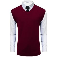 Tom's Ware Mens Casual Pullover V-Neck Sweater Vest ❤ liked on Polyvore featuring men's fashion, men's clothing, men's sweaters, mens sweaters, mens v neck sweater and mens vneck sweater