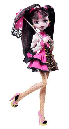 """Draculaura Wave 2 Monster High Doll - This doll was originally sold in a with the debut Clawd Wolf doll, sometimes referred to as the """"Forbitten Love"""" set. Monster High Dolls Names, Monster High Toys, Monster High School, Love Monster, Monster High Repaint, Monster Dolls, Lol Dolls, Cute Dolls, Barbie Dolls"""