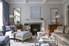 New Living Room Decor Blue Walls Farrow Ball Ideas Living Room Decor Colors, Living Room Paint, Living Room Grey, Living Room Lighting, Interior Design Living Room, Living Room Designs, Farrow And Ball Living Room, Living Rooms, Bedroom Colors