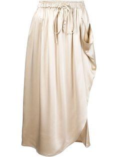 ADAM LIPPES Draped Asymmetric Hem Skirt. #adamlippes #cloth #skirt