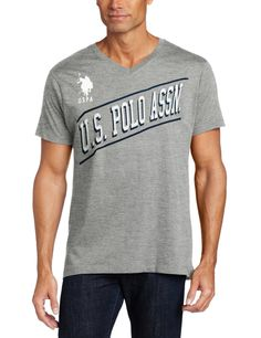 U.S. Polo Assn. Men's Short Sleeve T-Shirt with Diagonal Logo > Price:$30.00 > Sale:$14.99 > *100% cotton *Machine Wash *V-neck *Short sleeve *Front graphic placement *A diagonal logo across the chest lets them know you're sporting U.S. Polo Assn. *Made in USA > Click on the image for details and offers.