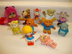 lot of 11 vintage pvc cartoon 80's toy figurines get along gang chuck e. cheese from $14.09