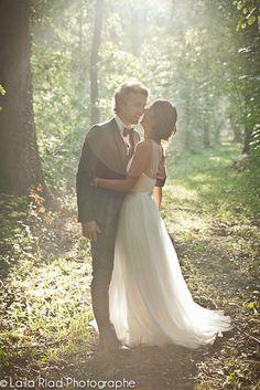 un mariage canon sous la pluie dans le domaine familial