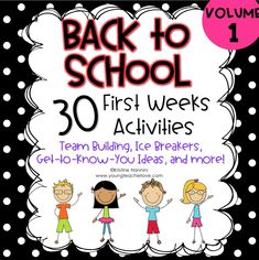 30 back to school team building ideas, ice breakers, get to know you ideas, and more! Great for the beginning of the year or the first weeks of school. 3rd Grade Classroom, Special Education Classroom, Preschool Classroom, In Kindergarten, Classroom Community, Classroom Ideas, Kindergarten Ice Breakers, Classroom Team Building Activities, Physical Education
