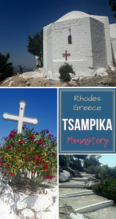 Here is what you can do when driving around this There is an interesting monastery high on the hill with a great view. European Travel Tips, European Destination, Europe Travel Guide, Travel Guides, Mykonos, Santorini, Greece Itinerary, Greece Travel, Amazing Destinations