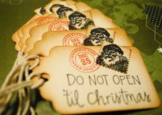 Vintage Christmas gift tags :)