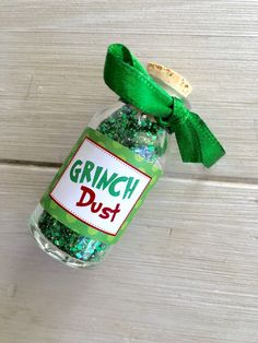 Christmas Eve Party Favor Grinch Dust Christmas by EllaJaneCrafts