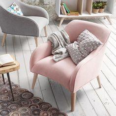 Кресло из натурального дерева LOBBY розовое, Julia Grup — купить