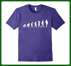 Mens FOOD EVOLUTION | T-Shirt For Men and For Women 3XL Purple - Food and drink shirts (*Amazon Partner-Link)