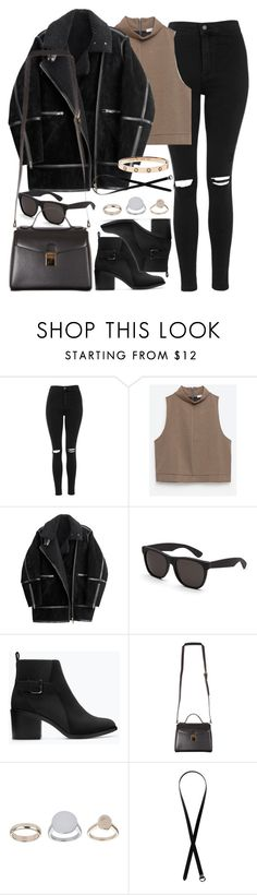 """Untitled #870"" by elly98 ❤ liked on Polyvore featuring Topshop, Zara, H&M, RetroSuperFuture, Monki, women's clothing, women, female, woman and misses"