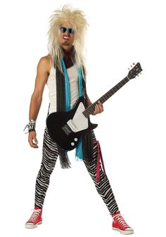 Become part of The Faces in our Adult Rock Star Costume. You need to look your best when you take the stage as one of the worlds biggest rock stars.  sc 1 st  Pinterest & 80s Rocker Costume w/Piano Belt Dustin would look perfect for our ...
