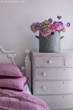Soft pastel pinks in my bedroom....
