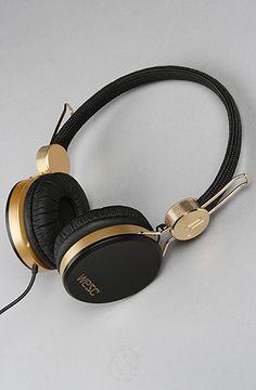 """WeSC """"The Banjo Golden Headphones in Black"""" #KARMALOOP 10-20% OFF every order with rep kode LOOPHOLE [KarmaKodes.com for more]   Shop KARMALOOP: http://www.karmaloop.com/index.aspx?rcode=LOOPHOLE"""