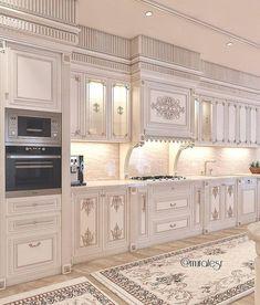 modern luxury kitchen design ideas that will inspire you 5 Kitchen Pantry Design, Luxury Kitchen Design, Home Decor Kitchen, Mansion Interior, Luxury Homes Interior, Elegant Kitchens, Luxury Kitchens, Home Room Design, Home Interior Design