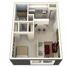 Living Room Apartment Layout - 60 Awesome Micro Apartment Layout Ideas on A Budget. Appartement Design Studio, Studio Apartment Design, Small Apartment Living, Small Apartments, Small Apartment Layout, Studio Apartments, Small Living, Plano Hotel, 800 Sq Ft House