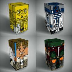 Tektonten Papercraft: Squatties Star Wars Paper Toys