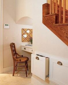 10 ideas for under the stairs.  Love a lot of these.