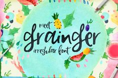 Grainger Script Font by Creativeqube Design. Perfect to use for: logo, branding, greeting cards, t-shirt, cases, posters and other.