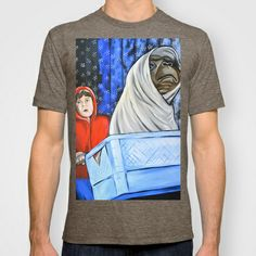E.T. T-shirt by Portraits on the Periphery   - $22.00