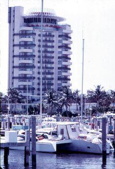 Pier 66 Resort & Marina hotel standing tall over the marina - Fort Lauderdale, Florida.