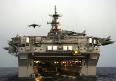 amphibious assault ship, Attack from land, sea & air... Does it all....