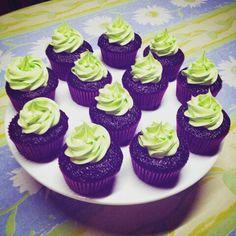 Cupcakes de chocolate con turron de miel