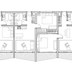 Apartment Plan Drawings. Rhino 3D Model, Illustrator Finalization. Plan Types: Studio and 1-bedroom. Architectural proposal by Kristen Gandy for the Louisiana Neighborhood at Zuni in Albuquerque, NM. ​ 2011