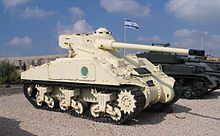 "M4A4. The Egyptian Army employed a modified version of the Sherman, mounting the FL-10 turret of the French AMX 13.  Both this design and the Israeli upgraded ""Super Shermans"" were engaged during the Suez Crisis in 1956.   Although its gun was a match, the Egyptian version had far less success, largely due to poorer training and tactics compared to their Israeli counterparts."