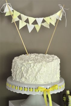 Gray and Yellow neutral themed baby shower!