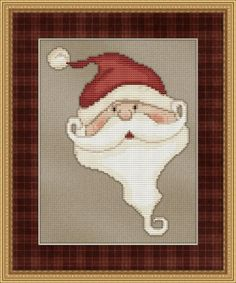 FREE! Whimsical Santa Cross Stitch Pattern