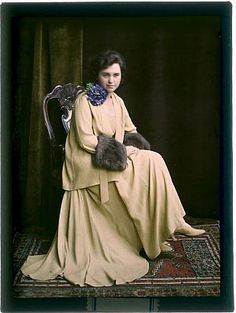 Unnamed Karel Šmirous Autochrom cm, 1915 Owner of the original autochrome: Private collection of Jindra Mikulíčková All ri. Color Photography, Vintage Photography, Old Photos, Vintage Photos, Albert Kahn, Image Positive, Subtractive Color, Colorized Photos, Colorized History