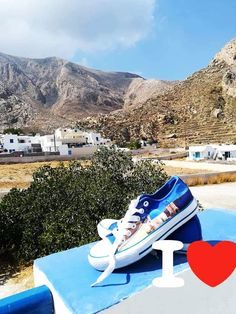Casual high quality canvas shoes with famous destinations from around the world. Santorini Greece, Painted Shoes, Keds, Greek, Around The Worlds, Island, Holidays, Explore, Live