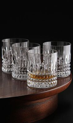Waterford Crystal, Lismore Diamond Straight Sided Crystal Whiskey Tumblers, Set of Four Crystal Whiskey Glasses, Bourbon Glasses, Crystal Decanter, Crystal Glassware, Waterford Lismore, Waterford Crystal, Vintage Wine Glasses, Old Fashioned Glass, Drinking Glass