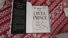 I got to see Holly Black talk about her new book, The Cruel Prince!