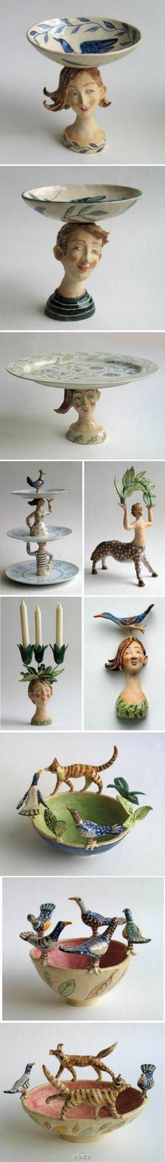 英国艺术家Helen Kemp的陶瓷作品