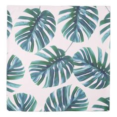 Monstera Pattern Queen Size Duvet Cover (affiliate)