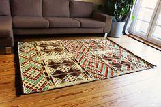 Carpet 135x200 cm,4,5' x6,5',Area Rug oriental,Floor mat,Kelim Damaskunst 1-4-21
