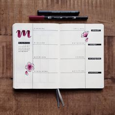 This weeks spread with some more blossoms  I really like this new way of using my horizontal layout!