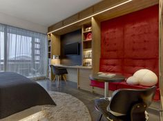 Hotel W Verbier de Concrete Architectural Associates (Copiar) W Hotel, Atrium, Interior Architecture, Interior Design, Chalet Interior, Chalet Style, Chalet Girl, Hotel Room Design, Beautiful Hotels