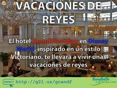 El Hotel Gran Floridian de Walt Disney World te llevará a vivir unas vacaciones de reyes. Inspirado en un estilo Victoriano aquí podrás divertirte en familia y complementar tus visitas a los parques temáticos de este complejo ==> http://g2l.us/grandf