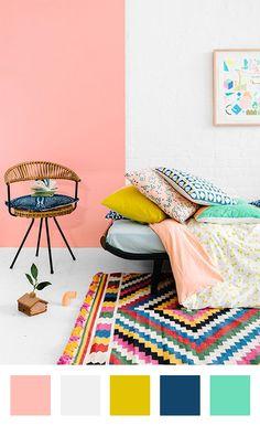 Un joli mélange de couleurs pastels ! #dccv #pastel #couleur #colors #home #design #nuancier #deco