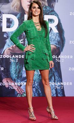 Penelope Cruz Shows Off Her Amazing Legs In Suede Balmain